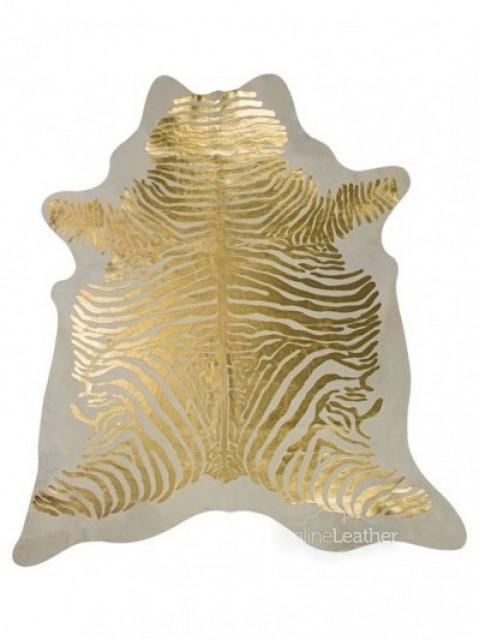 Zebra Ouro fundo Branco